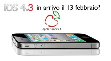 Apple iOS 4.3 a febbraio