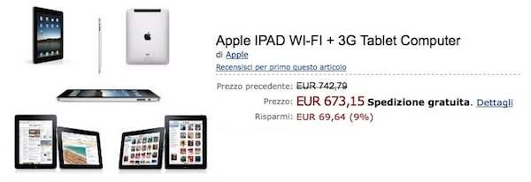 ipad 3g amazon italia