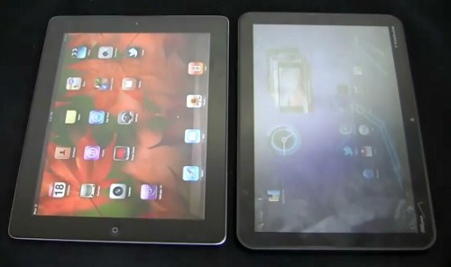iPad 2 contro motorola xoom android