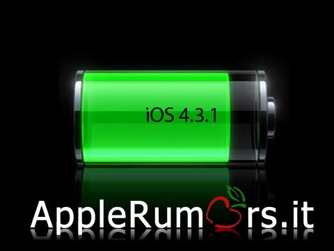 iphone batteria 4.3.1