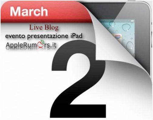 Segui l'evento della presentazione dell'iPad 2 con AppleRumors