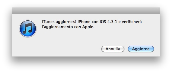 iOS 4.3.1 disponibile al download
