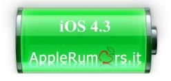 iOS 4.3 batteria iPhone