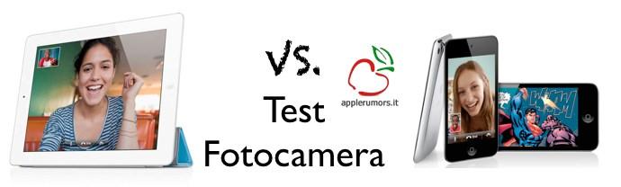 fotocamera iPad 2 contro iPod touch 4G