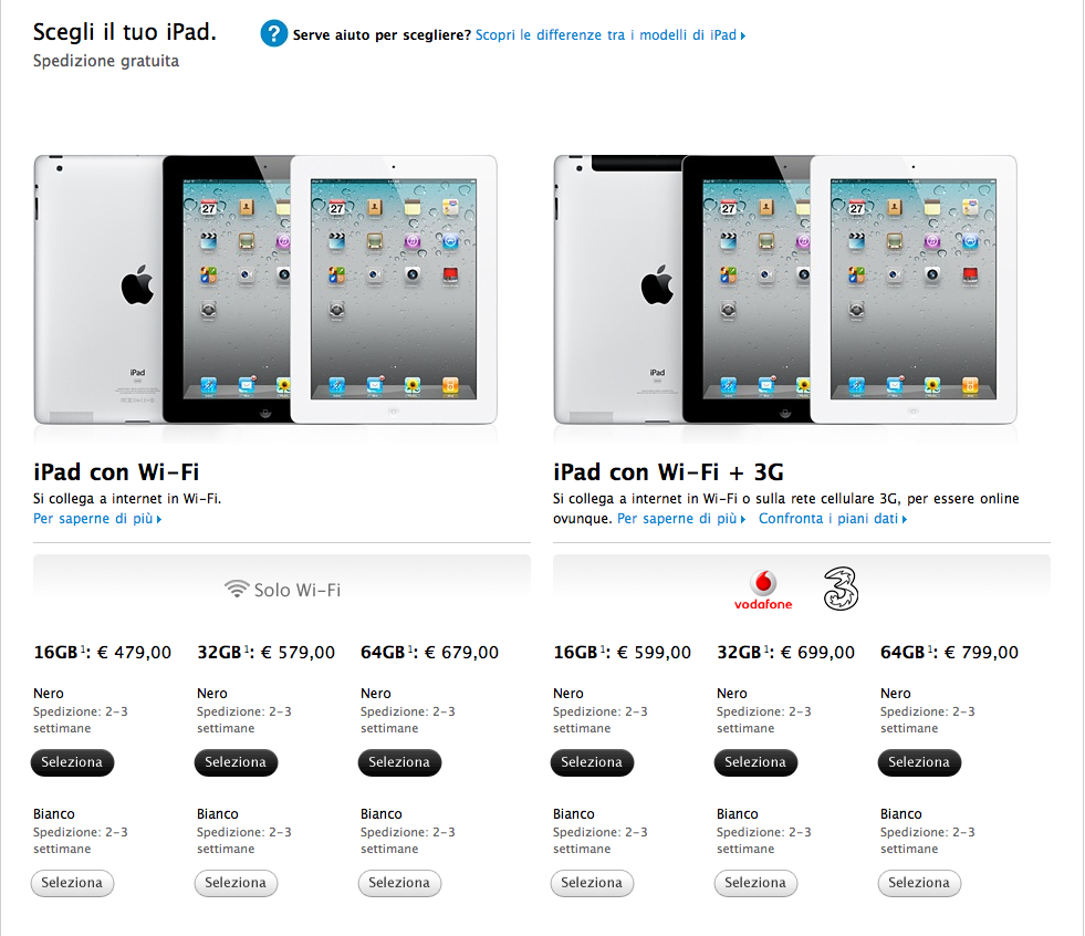 ipad 2 disponibile