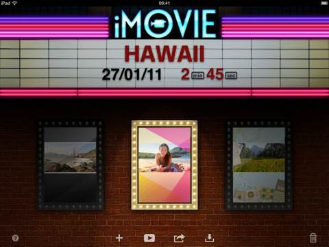 iMovie in App Store per iPad 2