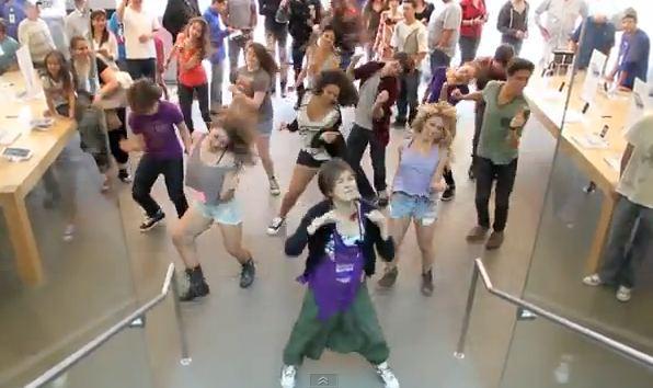 apple store flash mob