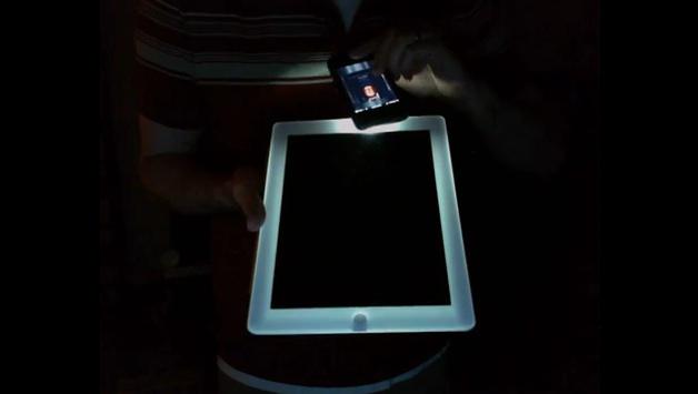 iPad 2 bianco fosforescenza