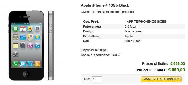iPhone 4 offerta