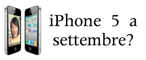 iphone 5 a settembre