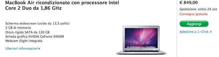 MacBook Air ricondizionato