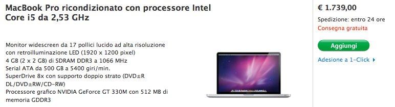 macbook pro ricondizionato