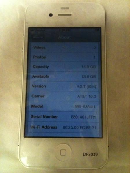 prototipo iphone 4 bianco