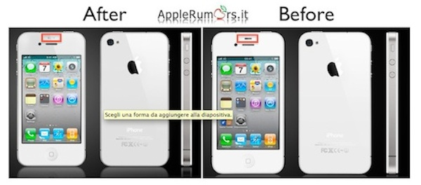 sensore iphone 4 bianco