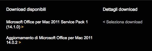 Microsoft rilascia il Service Pack 1 di Office 2011 per Mac