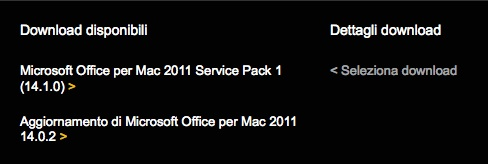 microsoft office 2011 service pack