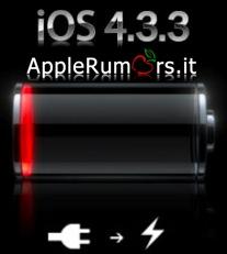 Autonomia batteria migliorata con iOS 4.3.3? No