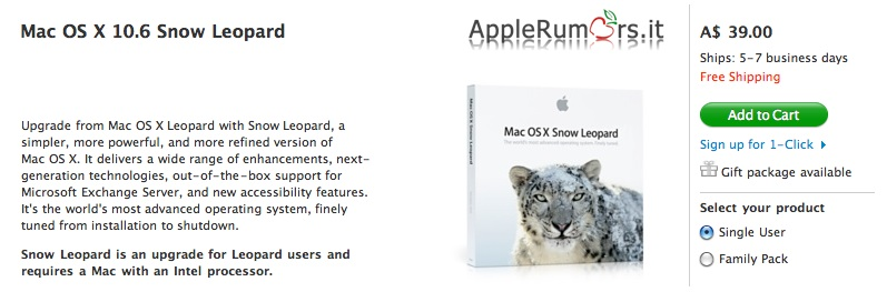 snow leopard apple store