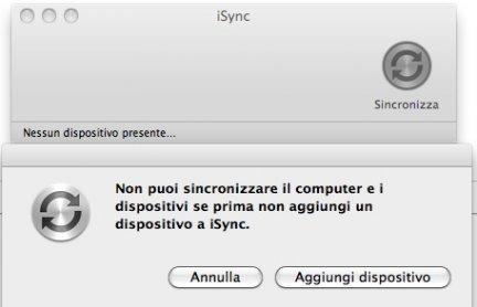 Mac OS Lion perderà iSync?