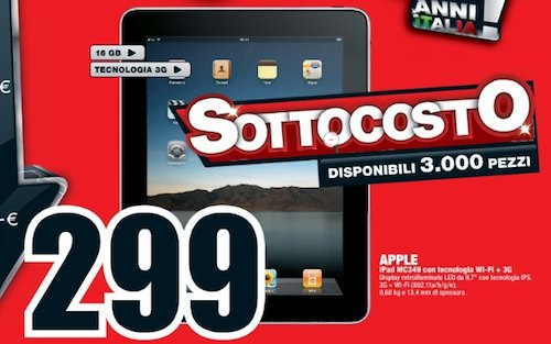 ipad 3G sconto mediaworld