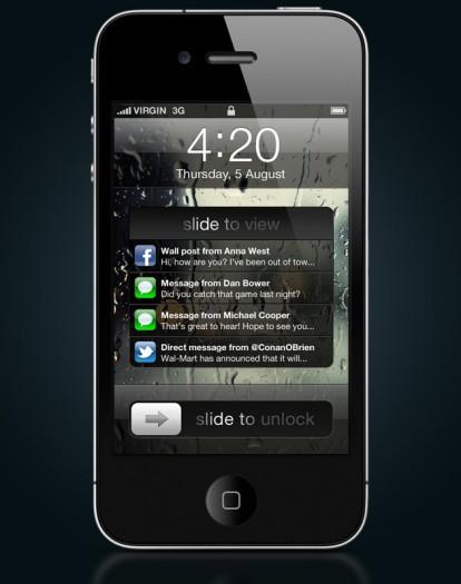 Notifiche iOS 5, ecco come potrebbero essere