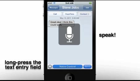 iOS 5 e riconoscimento vocale