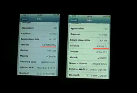 iPhone 4 iOS 5 vs iPhone 4 iOS 4.3.3, video confronto AppleRumors