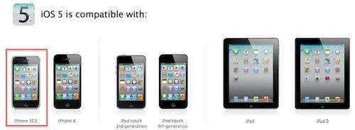 iPhone 3Gs iOS 5