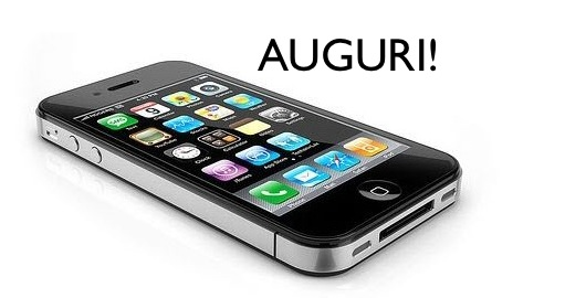 buon compleanno iPhone 4