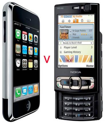 iPhone 2G vs Nokia N95