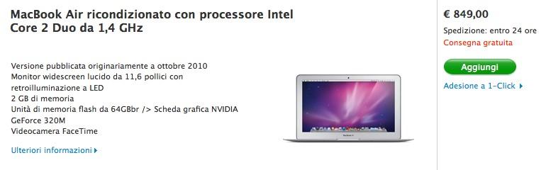Offerte Mac ricondizionati: MacBook Air di ultima generazione a 849 €!