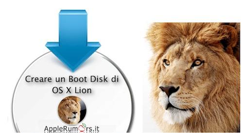 Creare un DVD Boot masterizzando OS X Lion