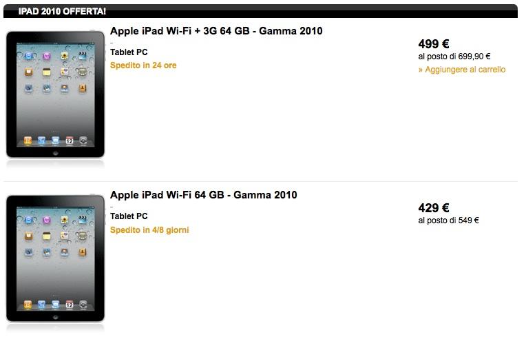 iPad di prima generazione in forte sconto presso lo Store Fnac