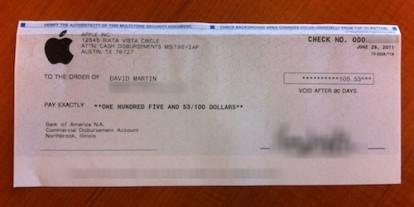 Apple inizia ad inviare assegni per rimborsare i clienti MobileMe