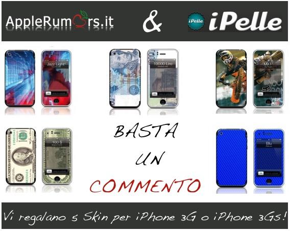 CONTEST: AppleRumors e iPelle vi regalano 5 skin per iPhone 3G/3GS (VINCITORI)