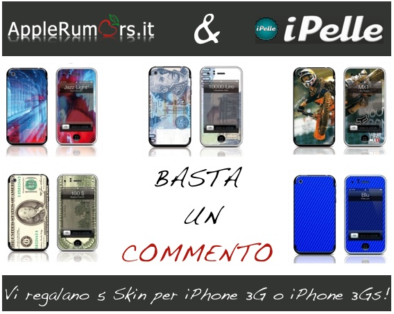 CONTEST: AppleRumors e iPelle vi regalano 5 skin per iPhone 3G/3GS (VINCITORI)
