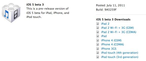 Apple rilascia l'iOS 5 beta 3, ecco tutte le novità (in aggiornamento)
