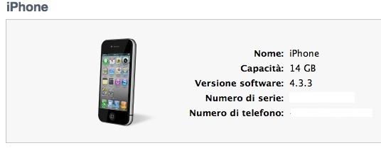 iPhone 4 su itunes