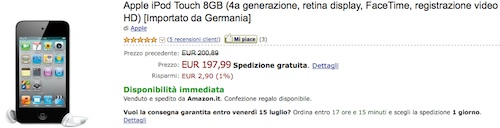 offerta iPod touch
