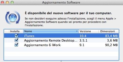 Disponibile il download di iTunes 10.4 compatibile con OS X Lion