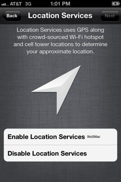 privacy GPS iOS 5 beta 3