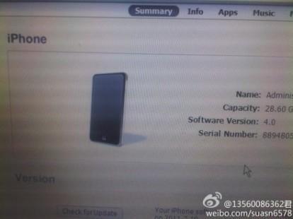 prototipo iphone 4s