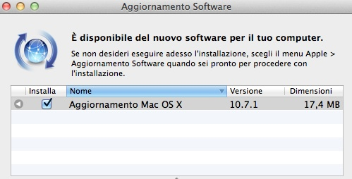 Apple rilascia OS X Lion 10.7.1