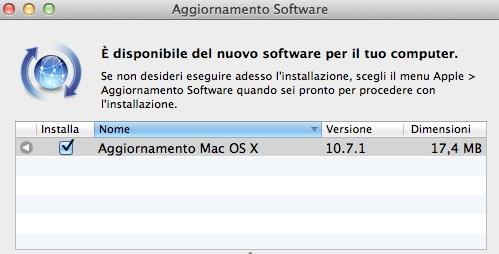 Apple rilascia OS X Lion 10.7.1