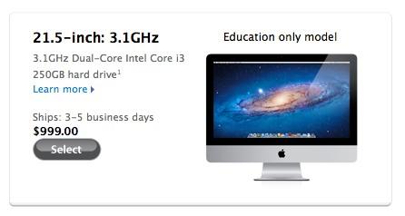 Apple rilascia l'iMac economico a 999 $ (Aggiornato)