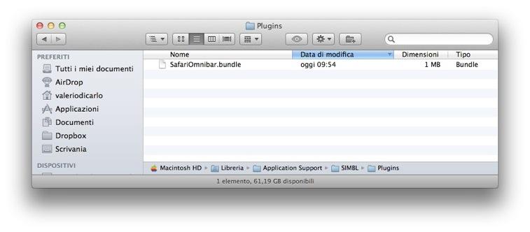 Omnibar: un plugin per Safari capace di unire la barra indirizzi con quella di ricerca