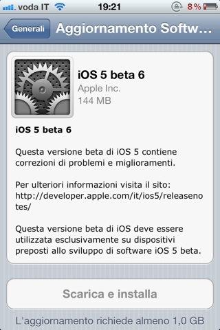 OTA iOS 5 beta 6