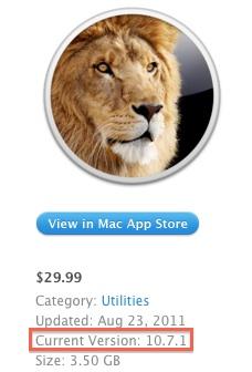 Apple aggiorna OS X Lion sul Mac App Store alla versione 10.7.1