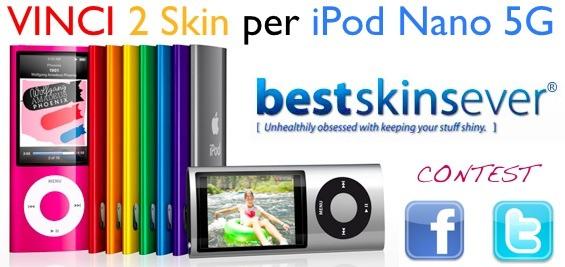 Contest: AppleRumors e Bestskinsever vi regalano 2 skins per iPod Nano 5G (Vincitori)