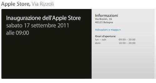 Ufficiale: Apple Store Bologna aprirà sabato 17 settembre